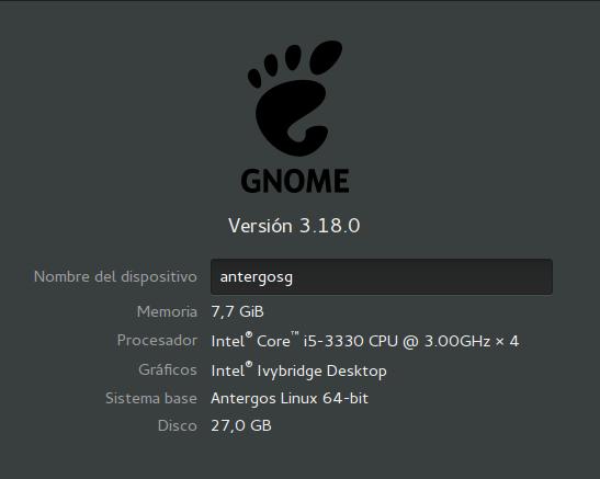 gnome-318-antergos