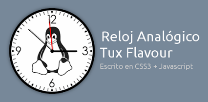 Un precioso Reloj Tux para tu Blog o sitio Web