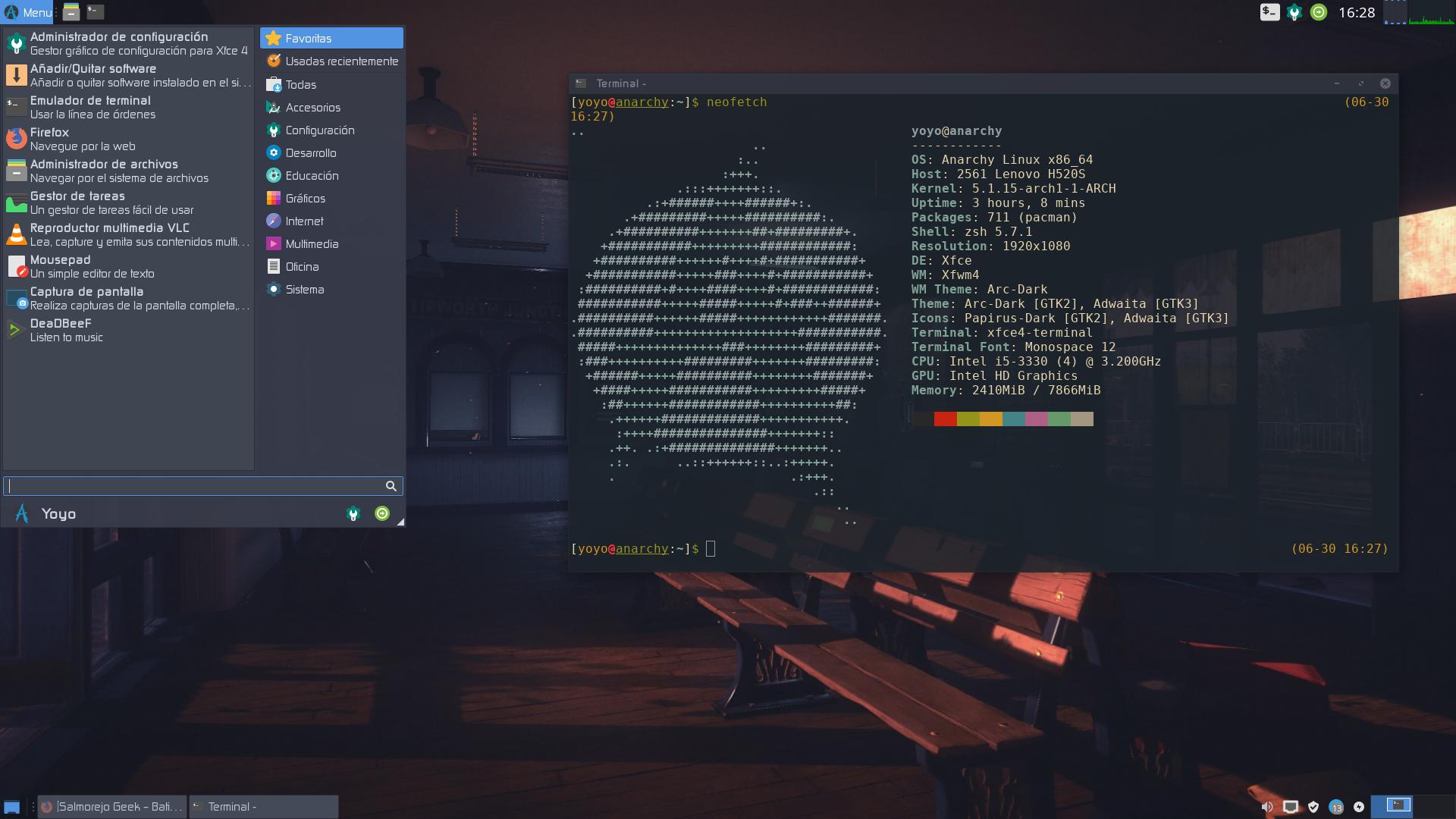 tener Arch Linux de manera